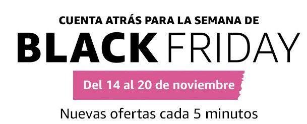 Cuenta atrás para la semana de Black Friday en amazon españa
